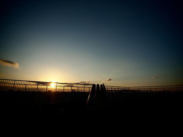 屋上 初日の出